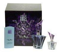 Angel Violet Perfume by Thierry Mugler Gift Set for Women 25ml Eau De Parfum Spray, 30ml Body Lotion Perfume Mini -