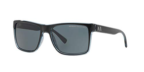Sunglasses Exchange Armani AX 4016 805187 BLACK/TRANSP. BLUE GREY by A|X Armani Exchange (Image #1)