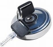 Mountney - Tapón de gasolina con cierre de caja de acero inoxidable