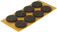 50 x 30mm Anti-scratch felt pads Furniture gliders on laminate, Tile or wooden floors