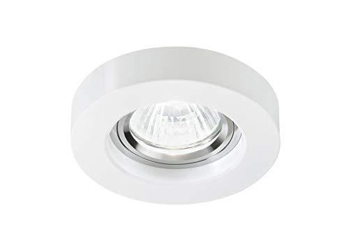 Foco GU10 LED empotrable de Techo Techo redonda Cristal Blanco para falso Techo Cartón yeso: Amazon.es: Iluminación