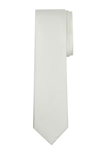 Jacob Alexander Boy's Regular Self Tie Prep Solid Color Necktie - Cream