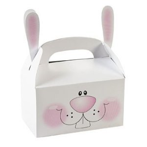 Paper Bunny Treat Boxes With Ears (pack of 12)