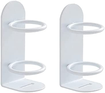 Electric Toothbrush Holder, 2 Pcs Iron Art Wall Hanging Punch-Free Electric Toothbrush Holder Wall Mounted Toothpaste Storage in Bathroom Razor Holder for Shower(White)