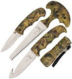 Elk Ridge ER-273CA Hunting Knife Set (4-Piece)