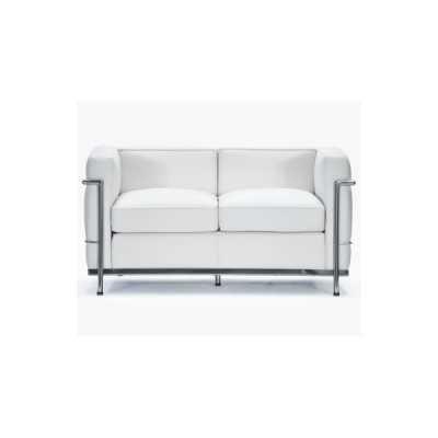LC2 Bauhaus - Sofá Le Corbusier de Cuero Genuino, Estructura ...