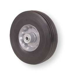 Industrial Grade 1NXB6 Wheel, Solid Rubber, 6 In, 250 Lb Cap