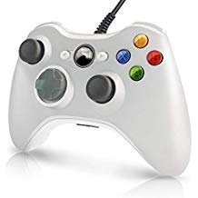Xbox 360 Wired Controller, A03 Xbox 360 PC controller USB Wired Gamepad For Xbox 360 Console Windows PC Laptop Computer-White