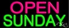 Open Sunday Neon Sign - 13'' x (Open Sunday Neon Sign)