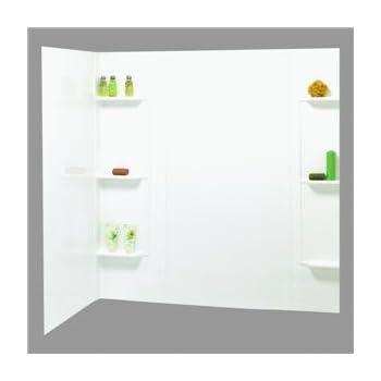 5 Piece White Tub Wall Kit Bathtub Walls And Surrounds