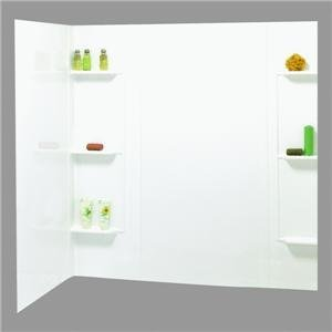 Maax 101604-000-129 5-Piece Bathtub Wall Kit, 48-60 in L X 31 in W X 59 in H, Polystyrene ()