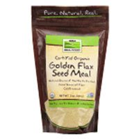 Golden Flax Seed Organic, Meal 12 oz by Now Foods (Pack of 3)
