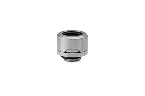 EKWB EK-Quantum Torque HDC-14 Compression Fitting Rigid Tubing, 14mm OD, Satin Titanium, 6-Pack