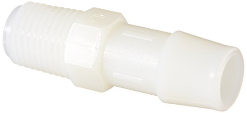 A4 Natural (Eldon James A4-8NN Natural Nylon Adapter Fitting, 1/4-18 NPT to 1/2