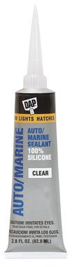 Dap 00694 2.8 oz Silicone Rubber Auto/Marine Sealant