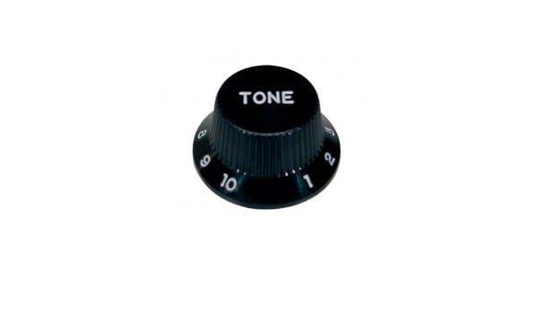 Amazon.com: BOTON GUITARRA ELECTRICA - Goth (KB240T) (Tono) (Plastico Negro) Stratocaster: Musical Instruments