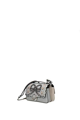 Fendi Baguette Cuir Micro Bandoulière Femme Sacs 8m0371a3e0 Gris rqPp1Arnt
