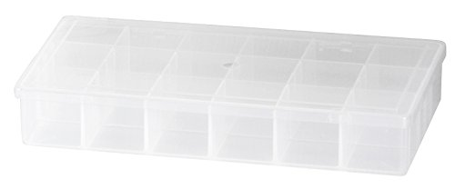 Akro-Mils 96352A Medium Utility Box Plastic Storage Case for Small Parts, Clear, 12-Pack