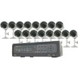 SVAT 16-Channel H.264 DVR Security System with iPhone, BlackBerry Access and 16 Indoor/Outdoor CMOS Night Vision Cameras (CV501-16CH-016)