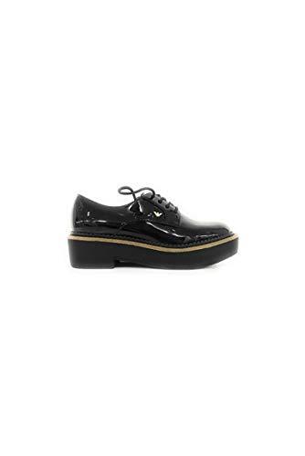 Armani De Femme Pour Chaussures Emporio Noir Ville À Lacets OxCpdwq