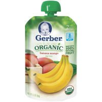 Gerber 2nd Foods Organic Baby Food Banana Mango 3.5 OZ