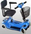 Zip'r Mobility ZIPR4BLUE 4 Wheel Travel Scooter - Blue