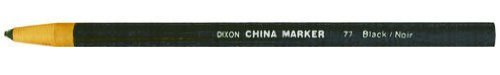6 Pack Dixon 00077 Phano Peel-Off China Marker - Black - 12 per Package by PencilThings