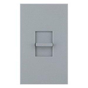Lutron NTSTV-DV-GR Nova-T® Single Pole Small Control Fluorescent Slide-To-Off Dimmer 0 - 10 Volt DC, Gray,