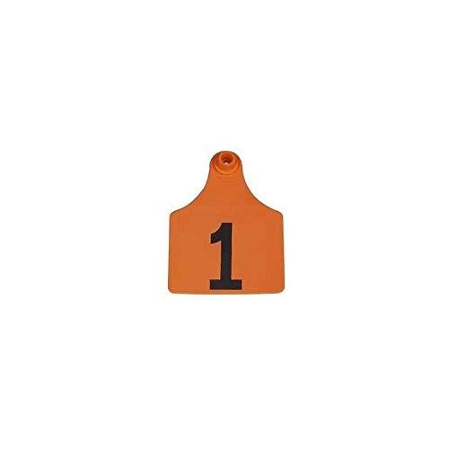 Allflex Global Maxi Numbered Cattle Ear Tags Orange 76-100