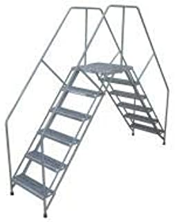 "product image for Cotterman Crossover Ladder, Steel, 50"" Platform Height, 46-1/2"" Span, Number of Steps 5-5PC60A3B1C1P6"