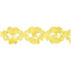 Creative Converting Tissue Garland Party Decor, 10' Long, Yellow