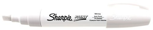 Sharpie Paint Marker Pen Oil Base Bold Point, White Box of 6