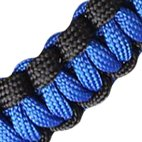 WaterFit Paracord Carrier Strap Cord with Safety Ring and Carabiner for 12-Ounce to 64-Ounce Wide Mouth Water Bottles, DarkBlue/Compass+FireStarter