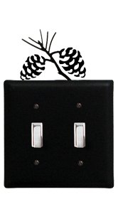 (8 Inch Pinecone Double Switch Cover)