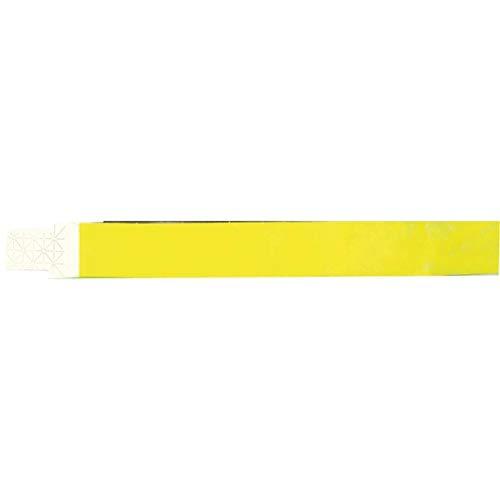 Pulseira Identificacao Amarela Fluor , Pacote com 100 Grespan, Multicor