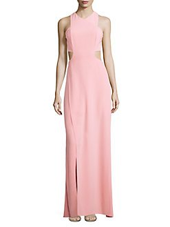 d769c1a551e Image Unavailable. Image not available for. Color  Halston Heritage  Sleeveless Back Cutout Long Crepe Gown ...
