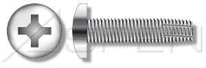 (500 pcs) 3/8'-16 X 3/4' Thread-Cutting Screws, Type 'F', Pan Phillips Drive, AISI 304 Stainless Steel (18-8), Ships FREE in USA by Aspen Fasteners