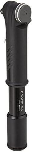 "Topeak Roadie DA Dual Action Bike Mini Pump, Road 18cm 120 psi/8.3 bar, Black, 18.3 x 3.2 x 2.8 cm / 7.2"" x 1."