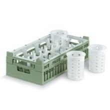 Vollrath Green 8 Compartment Transporting Cylinder Rack, 10 x 19 3/4 x 5 11/16 inch - 4 per ()