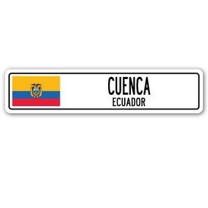 (3 Pack: CUENCA, ECUADOR Street Sign Sticker 3