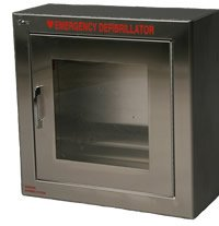 Stainless Steel - Surface Mounted AED Wall Cabinet