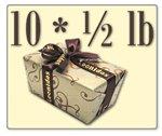 Leonidas Belgian Chocolates: 10 x 1/2lb Decorative Ballotins filled with assorted Leonidas Belgian Chocolates