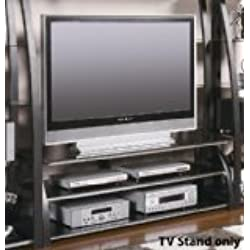 Coaster Contemporary Matte Black TV Console with Shelves