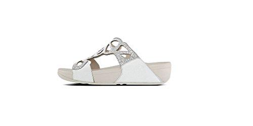 Fitflop - Sandalias de vestir de Otra Piel para mujer plateado plata