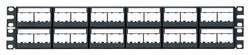 Panduit CPPL48WBLY Patch Panel, Mini-Com, 48 Port, w/12 CFFPL4 Faceplates, 2RMU, Black