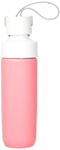 d.stil 28 oz. Stainless Steel Easy-Infuse Active Lifestyle Reusable Water Bottle in Coral Pink/Cotton White/Ash Grey