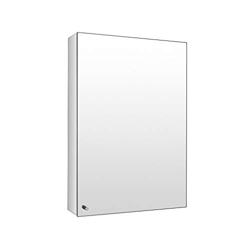 Peaceip US Bathroom Mirror Cabinet Storage Unit Stainless Steel Frameless Wall Mounted -