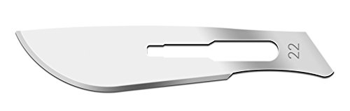 IMS IMS-CBLD22 Scalpel Sterile Blades #22 Carbon Steel Individually Foil Wrapped, Box of 100 ()