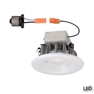 Commercial Electric 4 in. Recessed White LED Trim (T40) (4) by Commercial Electric
