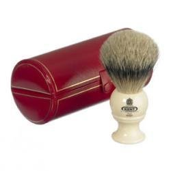 Cream Traditional Small Silver Tip Badger Shave Brush - BK4 by Kent